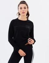 DKNY Pullover Sweatshirt with Ribbed Back Hem