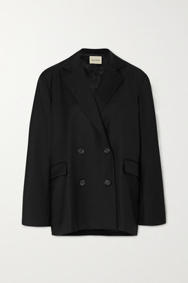 LOULOU STUDIO Tatakoto Double-breasted Wool-twill Blazer - Black