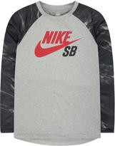 Nike Boy's Print-Blocked Raglan Tee