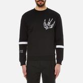 Mcq Alexander Mcqueen Clean Crew Neck Swallow Sweatshirt Darkest Black