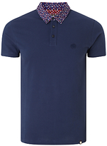 Pretty Green Rindle Floral Print Collar Polo Shirt