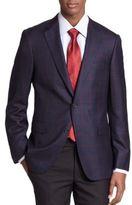 Saks Fifth Avenue Samuelsohn Windowpane Check Sportcoat
