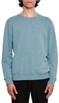 Maison Margiela Cotton Crewneck Sweatshirt with Elbow Patches