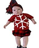 Newborn Baby Boys Girls Summer Clothes,Fheaven Short Sleeve Snow Blouse T Shirt+ Plaid Short Pant (24M)