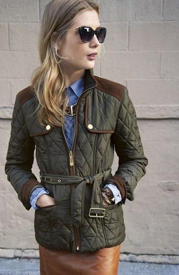 Vince Camuto Quilted Field Jacket (Regular & Petite)