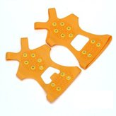 SODIAL(R) Pair Ice Snow Shoe Spikes Grips Crapons Cleats Hiking Fishing Clibing