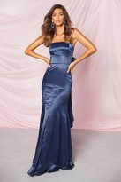 boohoo Occasion Satin Bow Back Maxi Dress