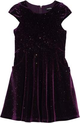 Zunie Glitter Velvet Dress