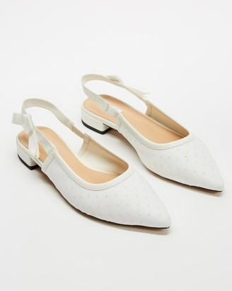 Dazie - Women's White Ballet Flats - Blossom Flats - Size 11 at The Iconic