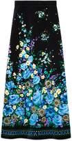 Gucci Flower fountain velvet skirt
