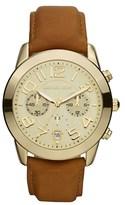 MICHAEL Michael Kors Michael Kors Chronograph Leather Strap Watch, 41mm