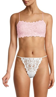 Free People Embroidered Lace Bralette