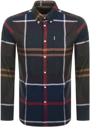 Barbour Long Sleeved Dunnon Check Shirt Navy