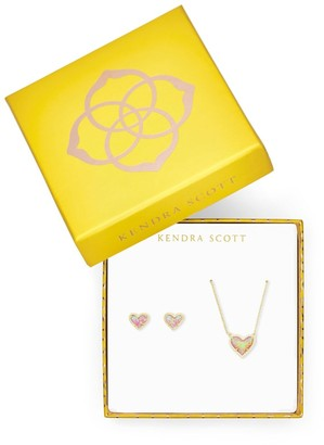 Kendra Scott Ari Heart Necklace & Earrings Gift Set