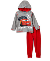 Children's Apparel Network Cars 'Fast Not Last' Hoodie & Sweatpants - Toddler