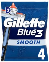 Gillette Blue 3 Smooth Men's Disposable Razors x4