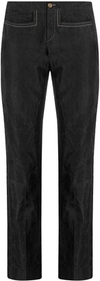 Gucci Pre-Owned 1990s Cropped Straight-Leg Trousers