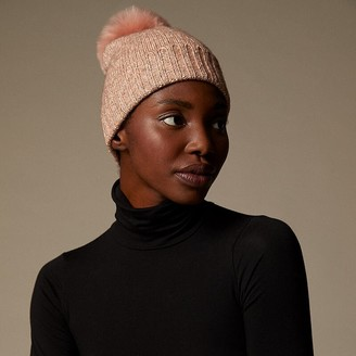 Love & Lore Love And Lore Micro Marl Pom Hat Sparkling Rose