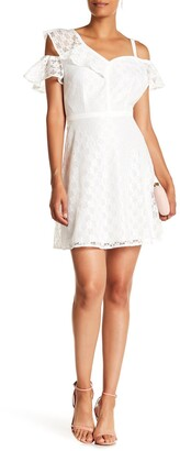 GUESS Cold Shoulder Lace Dress