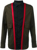 DSQUARED2 block colour panelled shirt