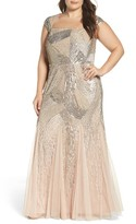 Adrianna Papell Plus Size Women's Embellished Gown