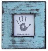 Light Blue Square Wood Photo Frame (3x3) from India, 'Rustic Blue'