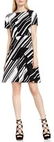 Vince Camuto Women's 'Graphic Wave' Print Fit & Flare Dress