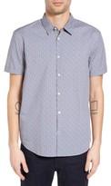 John Varvatos Men's Collection Mayfield Slim Fit Print Sport Shirt