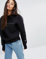 Champion Oversized Sweatshirt With Shadow Script Embroidery