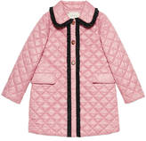 Gucci Children's quilted nylon ruffle coat