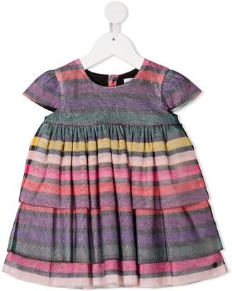 Sonia Rykiel Striped Ruffled Dress