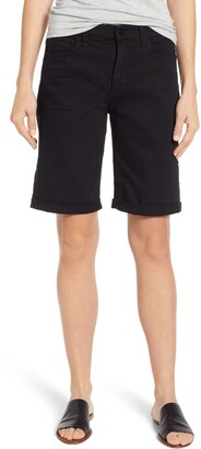 7 For All Mankind Jen7 By Rolled Cuff Stretch Cotton Bermuda Shorts