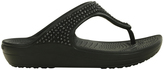 Crocs Sloane Diamante Flip Black Sandal