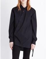 Izzue Asymmetric-detail cotton shirt