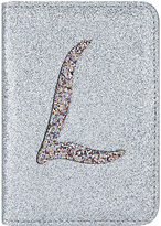 Accessorize Glitter L Alphabet Passport Holder