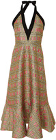 Cynthia Rowley Bonfire Brocade Midi Dress