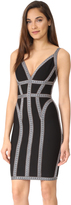 Herve Leger Fitted Sleeveless Dress