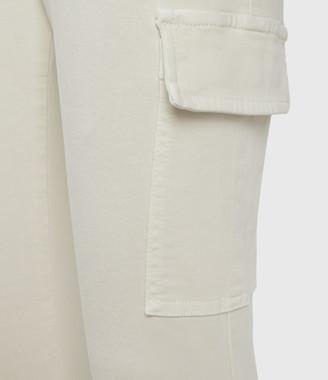 AllSaints Duran Mid-Rise Skinny Cargo Jeans, Ecru White