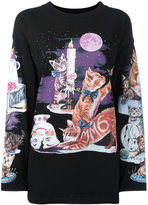 MM6 MAISON MARGIELA cat print sweatshirt - women - Cotton - S