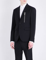 DSQUARED2 Zip-detail regular-fit stretch-wool jacket
