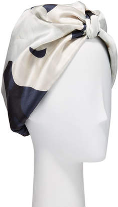 Violet & Wren Patterned Silk Turban
