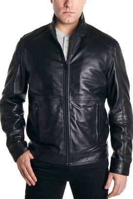 Perry Ellis Leather Moto Jacket