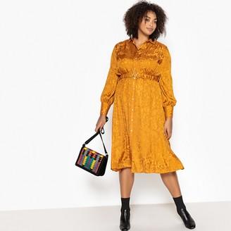 Castaluna Plus Size Jacquard Midi Shirt Dress