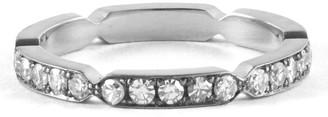 Sylva & Cie Diamond Pinch Eternity Band - White Gold
