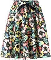 RED Valentino flowered mini skirt - women - Cotton/Spandex/Elastane - 40