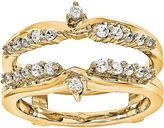 MODERN BRIDE 1/3 CT. T.W. Diamond 14K Yellow Gold Ring Guard