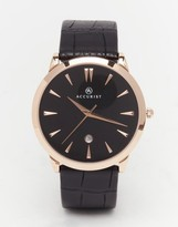Accurist Classic Black Leather Watch