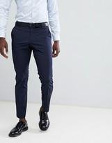 Selected Slim Fit Suit PANTS In Navy Pinstripe