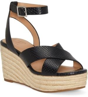 INC International Concepts Inc Women's Lemona Crisscross PlatForm Wedges, Created for Macy's Women's Shoes