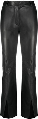 Just Cavalli Flared Slit-Hem Trousers
